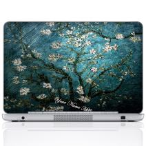Meffort Inc Personalized Laptop Notebook Notebook Skin Sticker Cover Art Decal, Customize Your Name (12 Inch, Van Gogh Almond Blossoming)