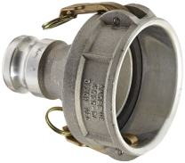 "Dixon 4020-DA-AL Aluminum Cam and Groove Reducing Hose Fitting, 4"" Socket x 2"" Plug"