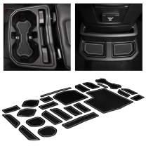 CupHolderHero for Jeep Wrangler Accessories 2018-2021 Premium Custom Interior Non-Slip Anti Dust Cup Holder Inserts, Center Console Liner Mats, Door Pocket Liners 24-pc Set (4-Door) (Gray Trim)