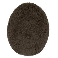 Maples Rugs Cloud Bath Washable Standard Toilet Lid Covers [Made in USA] for Bathroom, Chocolate Nib