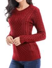 v28 Women Crew Neck Korea Knit Stretchable Elasticity Long Sleeve Sweater Jumper