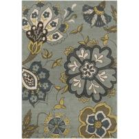 Surya MTR-1007 Monterey Medium Pile Machine Made Rug, 2-Feet 2-Inch by 3-Feet, Slate Gray