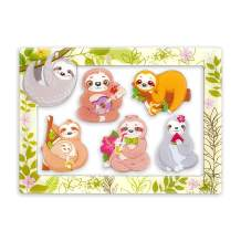 Sloth Gifts Magnets for Fridge Refrigerator, 5pcs Refrigerator Magnets and 4 x 6 Inches Magnetic Photo Frame, Sloth Gifts