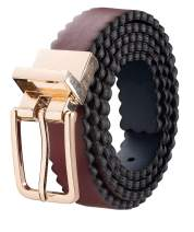 Silky Toes Scalloped Leather Reversible Adjustable Belts for Women with Buckle, Genuine Leather, Multi Colors