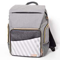 Gadikat Diaper Backpack, Changing Pad, Fully Open Compartment with Luggage Handle Slip Pocket