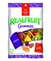 Dare REALFRUIT Gummies Tropical Fruits – Naturally Flavored Candies made with Real Fruit and No Artificial Colors or Flavors - 6.4 Ounces (Pack of 12)