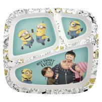 Zak Designs Minions 3-Section Kids Plate, Divided, Despicable Me