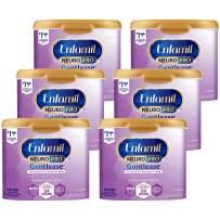 Enfamil NeuroPro Gentlease Baby Formula Gentle Milk Powder Reusable Tub, 20 oz.- MFGM, Omega 3 DHA, Probiotics, Iron & Immune Support, Pack of 6 (Package May Vary)