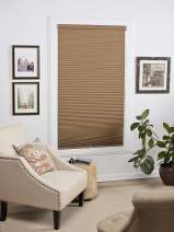 DEZ Furnishings QELN530480 Cordless Blackout Cellular Shade, 53W x 48L Inches, Linen
