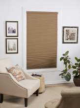 DEZ Furnishings QELN560640 Cordless Blackout Cellular Shade 56W x 64L Inches Linen