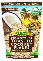 Let's Do Organic Unsweetened Toasted Coconut Flakes, 7 Ounce (Pack of 12)