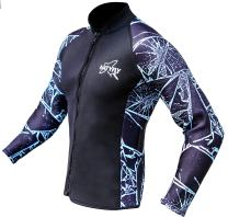 NATYFLY Wetsuit Jacket Long Sleeve Neoprene Wetsuits Top for Men/Women