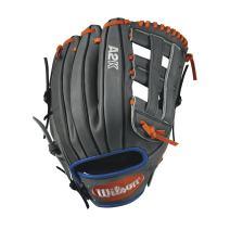 "Wilson 2017 A2K David Wright Game Model Baseball Glove, Grey/Royal/Orange, 12"", Left Hand"