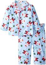 Little Me Baby Boys' Boy Santa Coat 2 Piece Poly Pajama