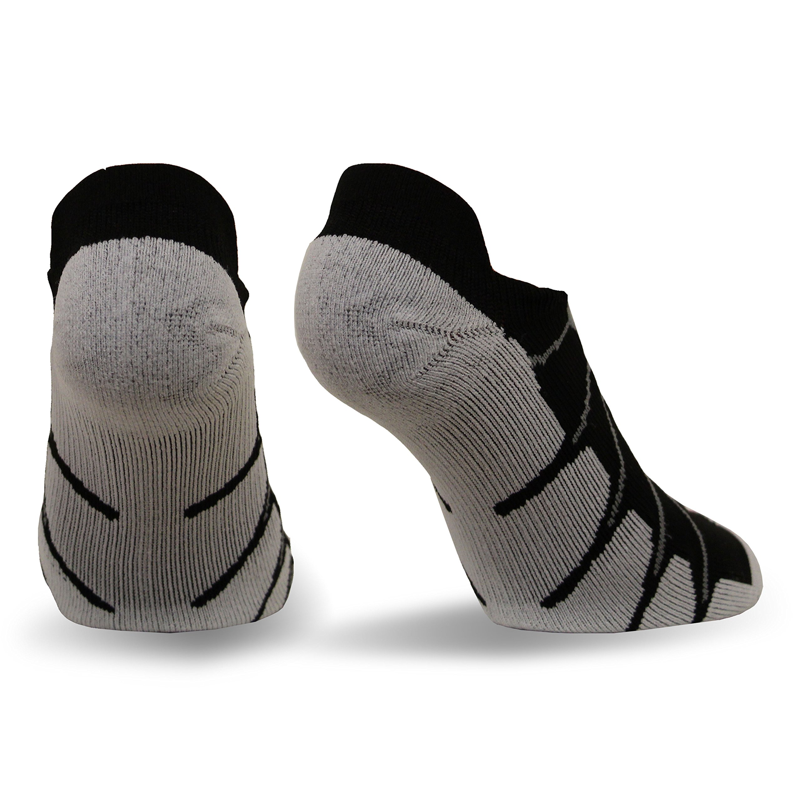 Sox Italy, Ghost No Show Silver Drystat Plantar Support Performance Socks - SS6011