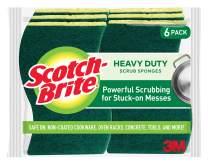 Scotch-Brite Heavy Duty Scrub Sponges, Powerful Scrubbing for Stuck-on Messes, 6 Scrub Sponges