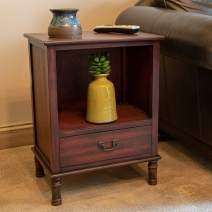 Decor Therapy Williamson Wood Side Table, 19x13.75x25, Cherry