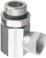 "Eaton Weatherhead 9515X16X16 Carbon Steel Straight Thread O-Ring Adapter, Swivel, 90 Degree Elbow, 1"" Female Pipe Swivel x 1-5/16-12 Male Straight Thread O-Ring"