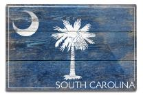 Lantern Press Rustic South Carolina State Flag 52572 (6x9 Aluminum Wall Sign, Wall Decor Ready to Hang)
