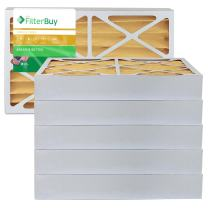 FilterBuy 16x20x4 MERV 11 Pleated AC Furnace Air Filter, (Pack of 6 Filters), 16x20x4 – Gold