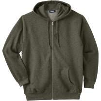 KingSize Men's Big & Tall Fleece Zip-Front Hoodie