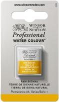 Winsor & Newton Professional Water Colour Paint, Half Pan, Raw Sienna