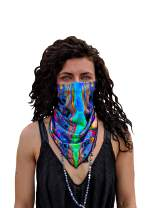Velu Rave Face Masks (2 in 1) Reversible Bandanas for Dust, Outdoors, Raves, Festivals with microFLEX Filtering Technology