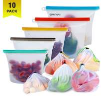 Reusable Silicone Food Storage Bags with Mesh Produce Bags (10-pack) Eco Friendly Food Storage Meal Prep   Freezer Containers Airtight Lunch Bags preserving cooking Kitchen Saver