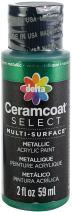 Delta Creative 04102 Multi-Surface Paint, 2 oz, Green Metallic