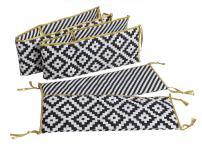 Bacati Love Crib Protection (Crib Bumper Pad, Black/Gold)