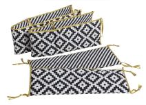 Bacati Love Crib Protection (Crib Bumper Pad, Black/Gold)