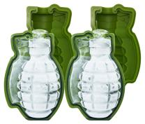Skaxi 3D Grenade Silicone Mold (Set of 2), Large Ice Cube for Whiskey, Silicone Molds for Fat Bombs, Ideal for Baking
