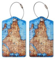 Chelmon Luggage Tags Label Cruise Instrument Bag Case Tags(09 map A)