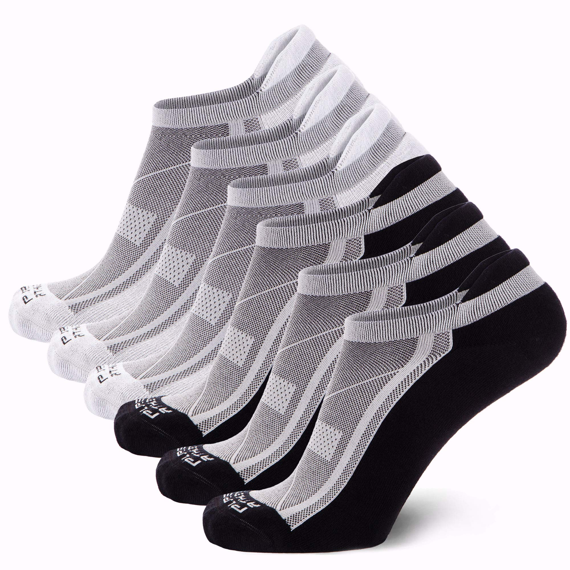 Anti-Blister Pure Athlete Bamboo Low Cut Running Socks for Men and Women Cushioned Comfortable