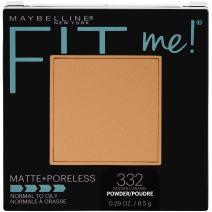 Maybelline New York Fit Me Matte + Poreless Pressed Face Powder Makeup, Golden Caramel, 0.28 Ounce, Pack of 1