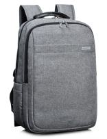 Leaper Water Resistant Business Laptop Backpacks College Travel Bag Fits 15.6 Inch Laptops Gray