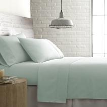 Southshore Fine Linens - BRITEYARN - Sweetbrier Print - 300 Thread Count 100% Cotton Extra Deep Pocket Sheet Set, Pastel Green, King