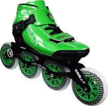 VNLA Carbon Speed Roller Skate Blades/Adult Roller Skate Blades Women - Adjustable Inline Skates for Women - Patines Roller Skate Blade - Roller Skate Blades Men (Black, Blue, Green, Red)