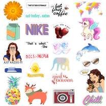 Cute Computer Stickers for for Laptop, Water Bottles, Cellphone, 37 Pack Durable PVC Waterproof Decoration Stickers, Premium Water Bottle Stickers and Decals by Horiechaly