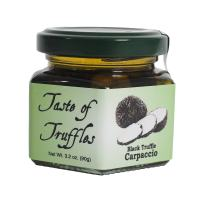 Black Truffle Carpaccio | Sliced Truffles | Gourmet Food Condiments Seasoning Garnish (wt.3.2 oz)