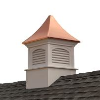 "Good Directions Southington Vinyl Cupola with Copper Roof, 30"" x 50"""