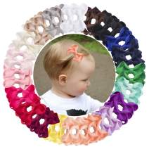 VINOBOW 40Piece 2Inch Small Hair Bows Clips Grosgrain Hair Clips Barrettes For Baby Girls Toddlers Kids Newborn Infants