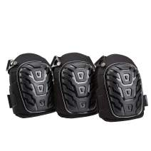 AmazonBasics Professional Gel Cushion Knee Pads - 3 Pair, Black