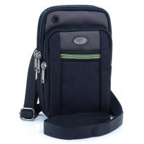"""U-TIMES Water Resistant Oxford Waist Pouch 6.5"""" Crossbody Shoulder Cell Phone Bag(Grey)"""