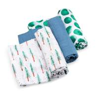 Parker Baby Swaddle Blankets - 3 Pack of 100% Cotton Muslin Swaddle Blankets for Boys - Timber Set