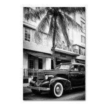 Classic Car Miami Beach by Philippe Hugonnard, 22x32-Inch Canvas Wall Art
