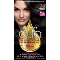 Garnier Olia Ammonia-Free Brilliant Color Oil-Rich Permanent Hair Color, 3.11 Darkest Platinum Brown (Pack of 1) Brown Hair Dye (Packaging May Vary)