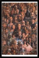 "Trends International Star Wars: Saga - Character Collage, 22.375"" x 34"", Black Framed Version"