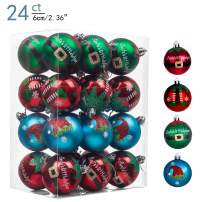 Valery Madelyn 24ct 60mm Delightful Elf Shatterproof Christmas Ball Ornaments Decoration,Themed with Tree Skirt(Not Included)