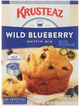 Krusteaz Wild Blueberry Muffin Mix - No Artificial Flavors, Colors or Preservatives - 17.1 OZ (Pack of 12)